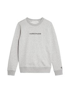 Calvin Klein Kids - Embroidered Logo Sweatshirt -collegepaita - PZ2 LIGHT GREY HEATHER | Stockmann