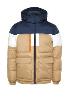 Tommy Jeans - Colour-Blocked Hooded Puffer -toppatakki - RBL CLASSIC KHAKI | Stockmann
