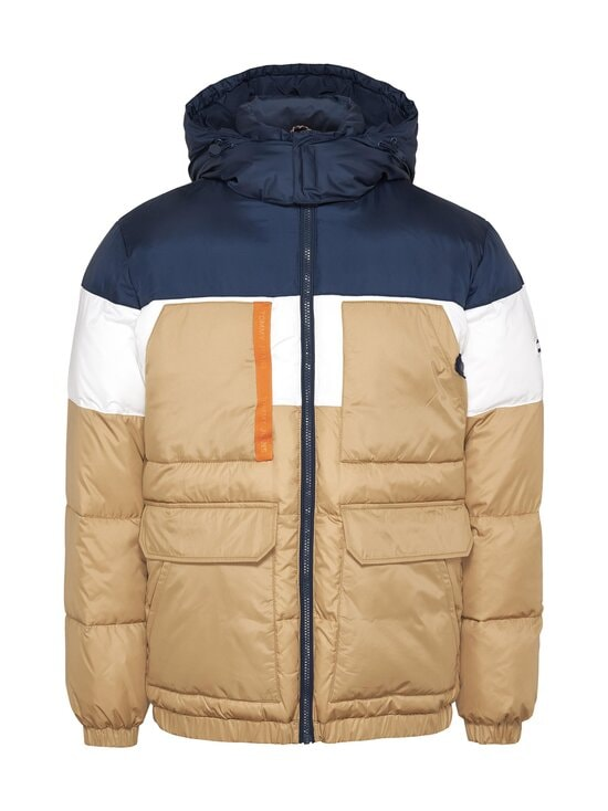 Tommy Jeans - Colour-Blocked Hooded Puffer -toppatakki - RBL CLASSIC KHAKI   Stockmann - photo 1