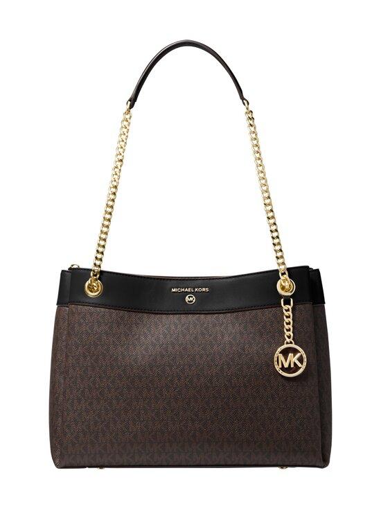 Michael Michael Kors - Susan Medium Logo Convertible Shoulder Bag -laukku - 292 BROWN/BLK | Stockmann - photo 1