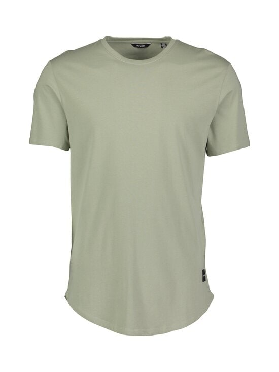 Only & Sons - OnsMatt Life Longy SS Tee -paita - SEAGRASS | Stockmann - photo 1