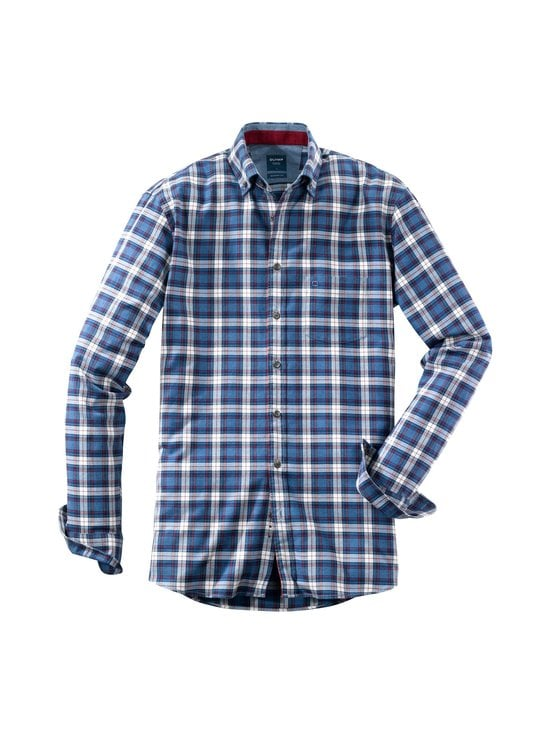Olymp - Casual Modern Fit -kauluspaita - 39 BLUE/WHITE, RED | Stockmann - photo 1