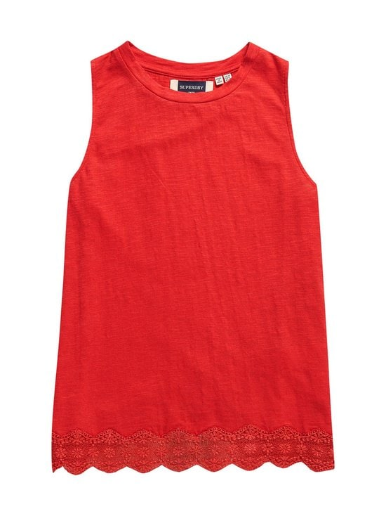Superdry - Lace Mix Vest -pusero - QNF HIBISCUS | Stockmann - photo 1
