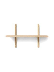 Ferm Living - Sector Shelf Single Narrow -hylly 54 x 34 x 22,1 cm - OAK - BRASS   Stockmann