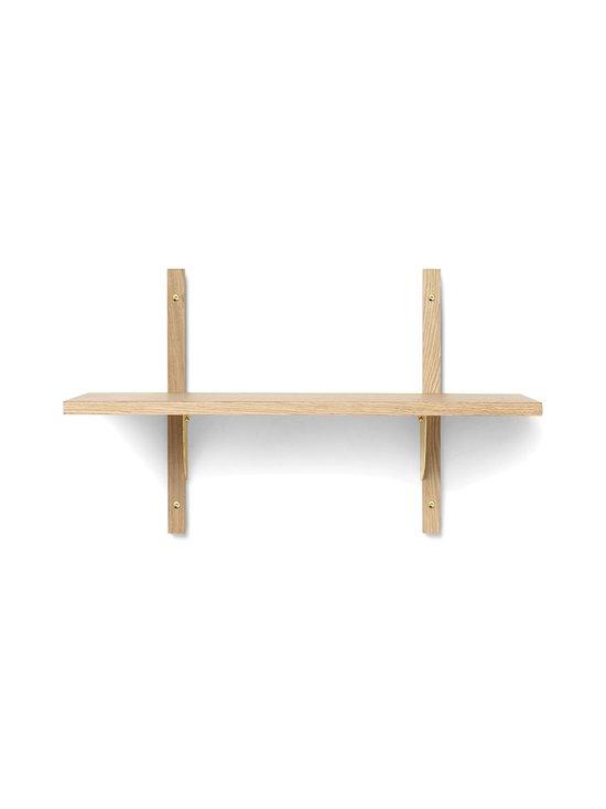 Ferm Living - Sector Shelf Single Narrow -hylly 54 x 34 x 22,1 cm - OAK - BRASS | Stockmann - photo 1