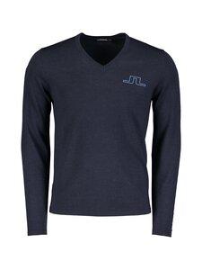 J.Lindeberg - Clas V-Neck Golf Sweater -merinovillaneule - 6881 NAVY MELANGE   Stockmann