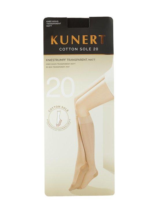 Kunert - Cotton Sole 20 den -polvisukat - BLACK | Stockmann - photo 1