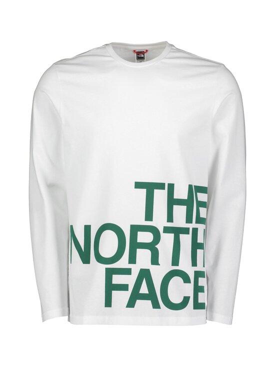The North Face - M LS Graphic Flow -paita - TU41 TNF WHITE/EVERGREEN | Stockmann - photo 1