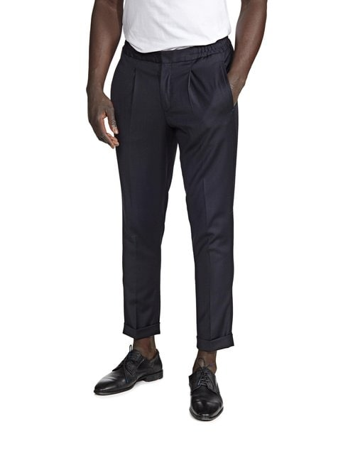 SlhTapered Twill Crop Pants -housut