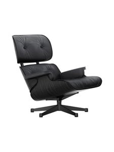 Vitra - Eames Lounge Chair -nojatuoli - BLACK ASH, PREMIUM LEATHER BLACK | Stockmann