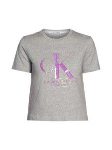 Calvin Klein Jeans Plus - Plus Size Iridescent Straight Tee -paita - P01 LIGHT GREY HEATHER   Stockmann