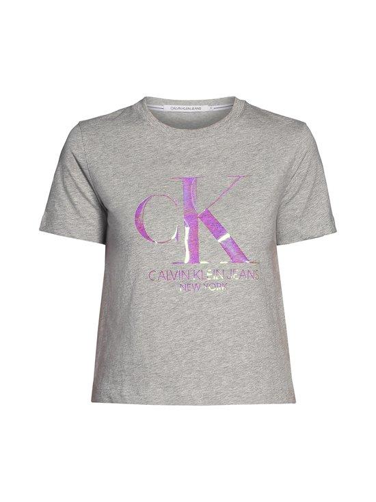 Calvin Klein Jeans Plus - Plus Size Iridescent Straight Tee -paita - P01 LIGHT GREY HEATHER | Stockmann - photo 1