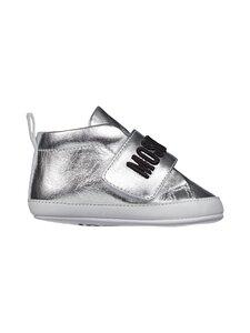 Moschino - Newborn Sneakers -nahkatossut - SILVER/BLACK EMBROIDERY | Stockmann