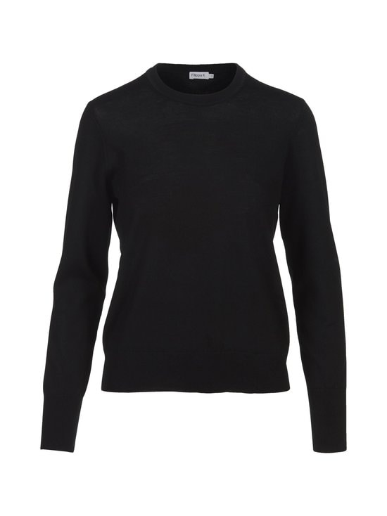 Filippa K - Merino R-neck -neule - BLACK | Stockmann - photo 1