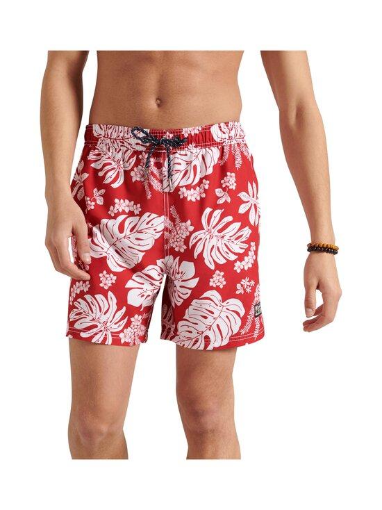 Superdry - Campus Hawaiian Swim Short -uimashortsit - VRI CAMPUS RED | Stockmann - photo 1