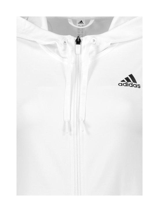 adidas Performance - 3-Stripes Full Zip Hoody -huppari - WHITE WHITE | Stockmann - photo 3