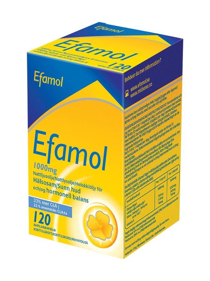 Efamol Helokkiöljy+E-vitamiini -ravintolisä 120 kaps./1000 mg