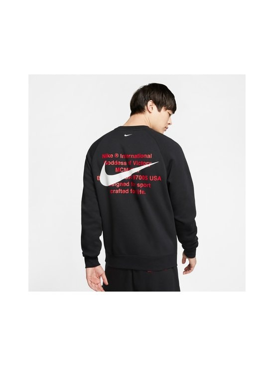 Nike - Swoosh Crew -collegepaita - 010 BLACK/WHITE | Stockmann - photo 4