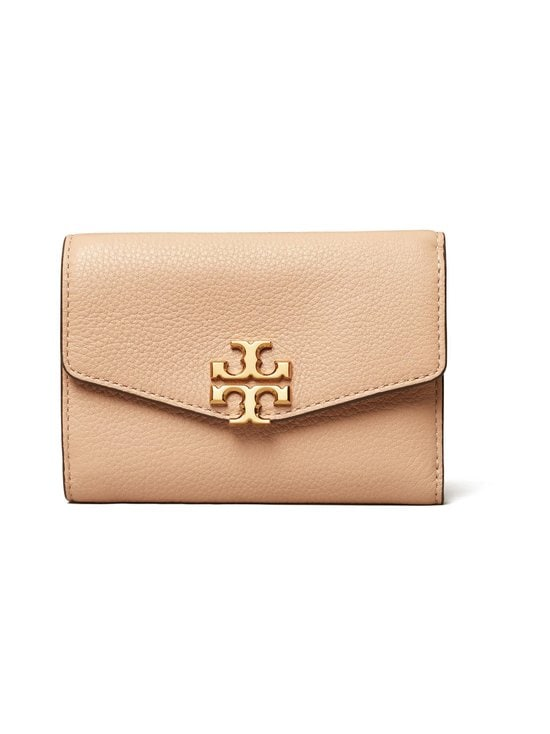 Tory Burch - Kira Medium Flap Wallet -nahkalompakko - 288 DEVON SAND | Stockmann - photo 1