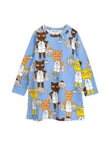 Mini Rodini - Cheer Cats -mekko - BLUE | Stockmann