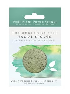 Konjac Sponge - Premium Facial Puff French Green Clay -ihonpuhdistussieni | Stockmann
