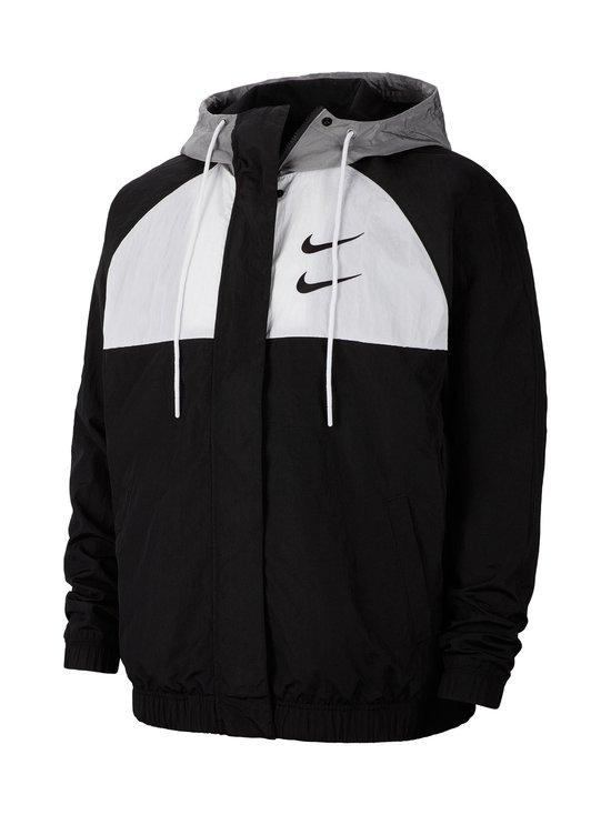 Nike - Swoosh Hooded -takki - 011 BLACK/WHITE/PARTICLE GREY/BLACK | Stockmann - photo 1