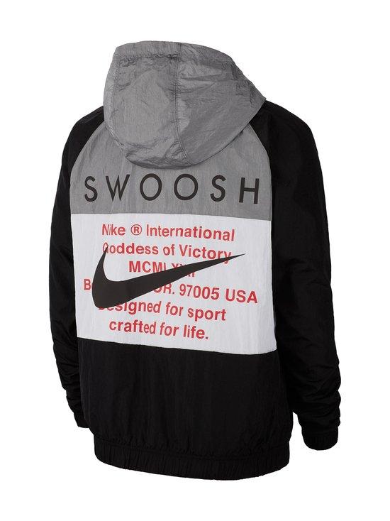 Nike - Swoosh Hooded -takki - 011 BLACK/WHITE/PARTICLE GREY/BLACK | Stockmann - photo 2
