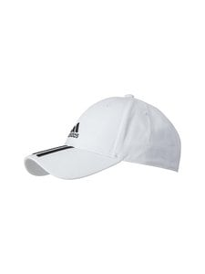 adidas Performance - Baseball 3-Stripes Twill Cap -lippalakki - WHITE/BLACK/BLACK | Stockmann