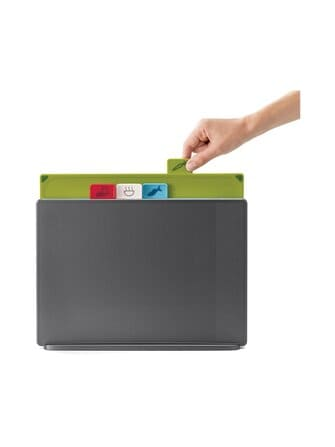 Index Large Graphite Chopping Board set - Joseph Joseph