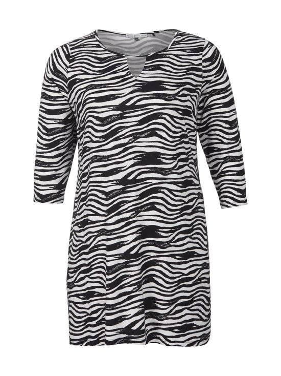 cut & pret PLUS - Celine-tunika - BLACK ZEBRA PRINT | Stockmann - photo 1