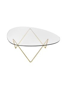 Gubi - Pedrera Coffee Table -sohvapöytä - BRASS SEMI MATT | Stockmann
