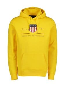 GANT - Archive Shield Hoodie -huppari - 728 SOLAR POWER YELLOW | Stockmann