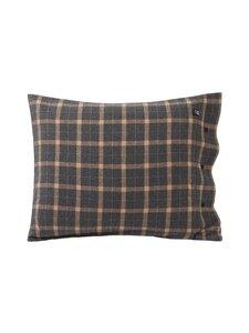 Lexington - Checked cotton flannel pillowcase -tyynynpäällinen - 2722 DK GRAY/BEIGE | Stockmann