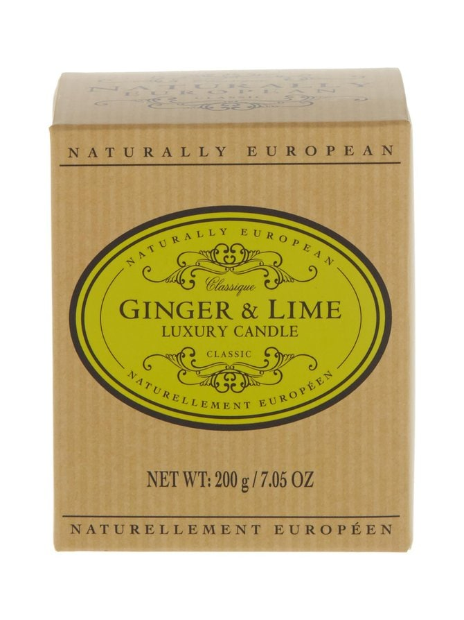 Naturally European Classique Ginger & Lime Luxury -tuoksukynttilä