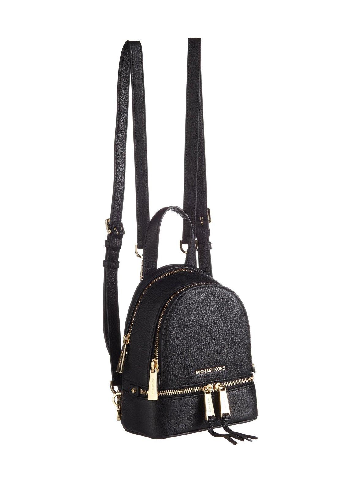 4532710013eb Black MICHAEL Michael Kors Rhea Mini Backpack -nahkareppu | 16,5 x ...
