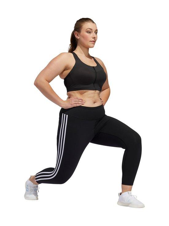 adidas Performance - Believe This 3-Stripes 7/8 Plus Size -treenitrikoot - BLACK/WHITE   Stockmann - photo 9