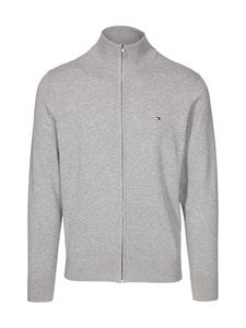 Tommy Hilfiger - Puuvilla-silkkineuletakki - PG5 MEDIUM GREY HEATHER | Stockmann