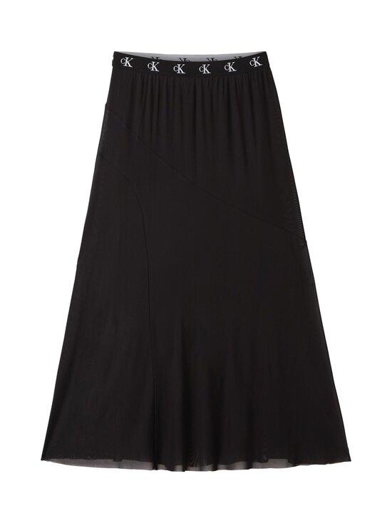 Calvin Klein Jeans - Logo Waistband Midi Skirt -hame - BEH CK BLACK | Stockmann - photo 1