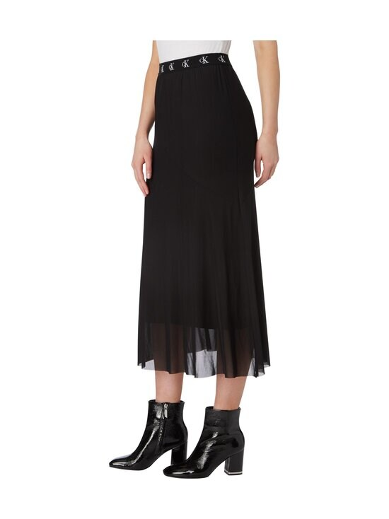 Calvin Klein Jeans - Logo Waistband Midi Skirt -hame - BEH CK BLACK | Stockmann - photo 4