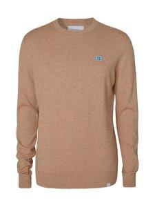 Les Deux - Etienne Cashton Knit -neule - 811032-LIGHT BROWN MELANGE/DUST BLUE-STONE BROWN | Stockmann