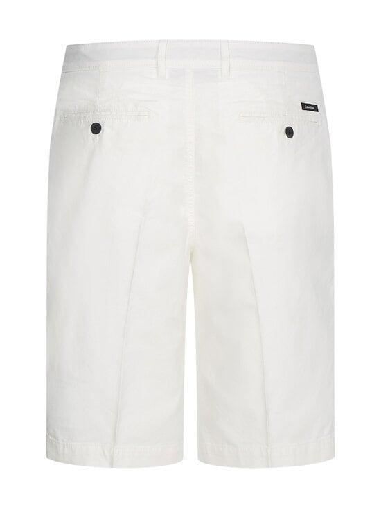 Calvin Klein Menswear - Regular Pleat Cotton Linen -shortsit - YAF BRIGHT WHITE   Stockmann - photo 2