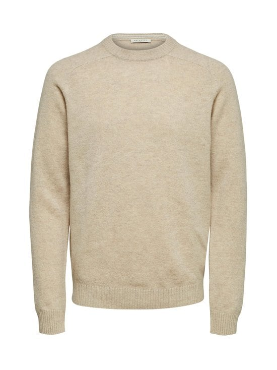 SlhNewcoban Lambs Wool Crew Neck -villaneule