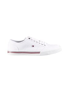 Tommy Hilfiger - Core Corporate Textile Sneaker -tennarit - YBR WHITE | Stockmann