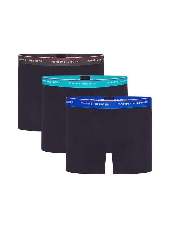 Tommy Hilfiger - Bokserit 3-pack - 0UA DARK ASH/AQUATIC TEAL/ELECTRIC BLUE | Stockmann - photo 1
