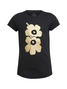 adidas x Marimekko - kukkakuviollinen Unikko -T-paita - BLACK | Stockmann
