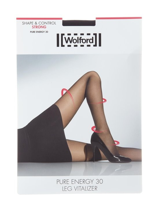 Wolford - Pure Energy 30 den Leg Vitalizer -sukkahousut - BLACK | Stockmann - photo 1