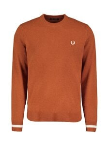 Fred Perry - Tipped Crew Neck Jumper -villaneule - 946 PAPRIKA | Stockmann
