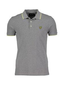 Lyle & Scott - Tipped Polo Shirt -pikeepaita - W393 MID GREY MARL/ LEMON | Stockmann