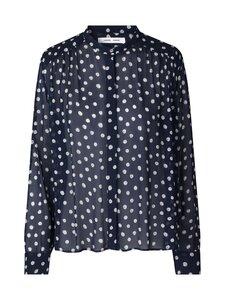 Samsoe & Samsoe - Elmy Shirt -pusero - BLUE DOODLE DOT | Stockmann