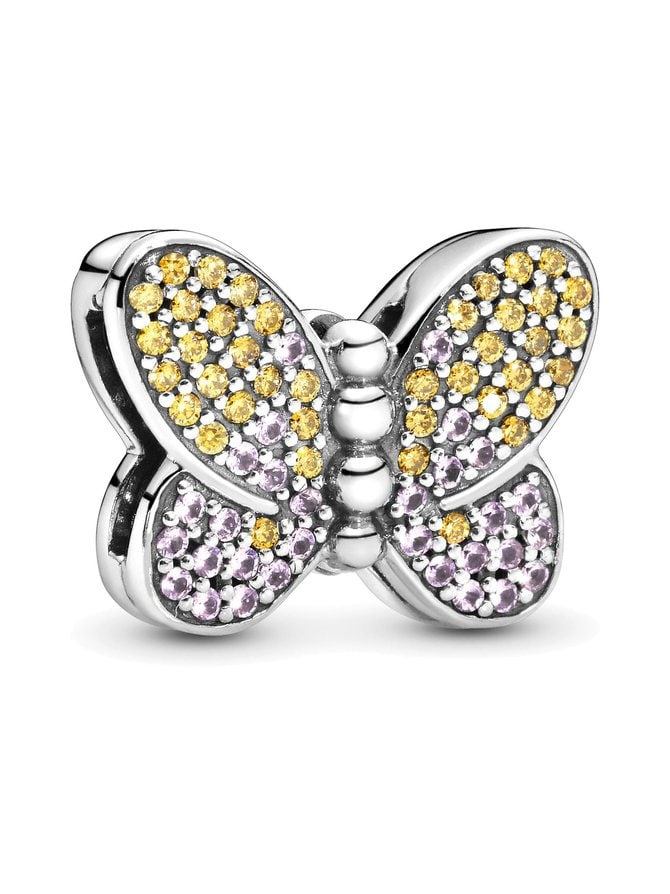 Reflexions Butterfly Silver Clip Charm -koru